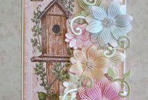 Vellum flower cards.