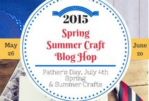 SCBH2015~ # 4 Spring, Summer, Father's Day, July 4th Crafts / Crafts from the Spring & Summer Blog Hop; Father's Day, July 4th, General Spring and Summer Crafts #SCBH2015