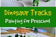 Tot School Week 6 2017: Dinosaurs