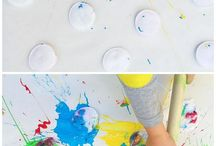 Painting,playing,connecting❤️ / Fun ideas in play & art to reconnect with your littlies