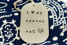 Cat People: Jewelry / Cat ladies love cat earrings, cat bracelets, cat necklaces, and cat pins-- really anything that is jewelry and includes cats!