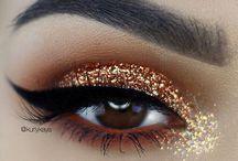metallic glitter eyeshadow