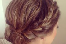 Bridal hair with braids ideas / Bridal hair