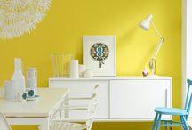 Interieur: geel
