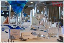 Dekoracje ślubne - niebieski wedding