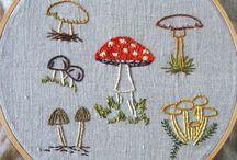 Embroidery mushrooms
