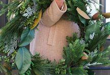 Decoración de navidad verde y DIY