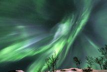 Auroras / Beautiful auroras in many beautiful colours.