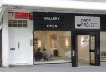 The Drop Project Gallery / A free-to-enter pop–up art gallery using an empty shop to showcase the fantastic work of the Arts University Bournemouth