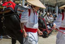 Traditional Rice Planting Matsuri at Sumiyoshi Taisha, Osaka-Japan.