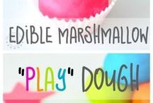 marshmallow playdough edible