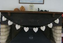 Paper goods / Bunting and stationary made from surplus and damaged books