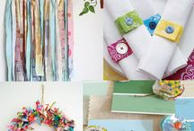 Gettin' Crafty / Ideas for crafts that could use our fabric or leather scraps!
