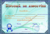 D nepersonalizate liceu / Diplome scolare nepersonalizate liceu (de merit, premiere, absolvire)