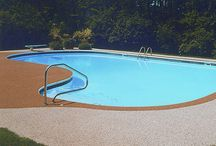 Nature Stone Perfect Pool Deck Floors / Nature Stone flooring is perfect for your current concrete pool deck. Nature Stone is not only beautiful, but it's functional too. Perfect for pools our flooring is non-slip so there's no reason to worry when hosting guests or children are playing. Nature Stone flooring won't puddle, and best of all it's cooler on your feet than concrete. Get yours today.