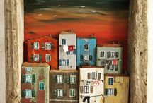 Домики. городская миниатюра