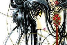 """CLAMP / CLAMP é um grupo de mangakas formado por quatro japonesas que dividem o trabalho. O CLAMP fez vários mangás shoujo, de praticamente todas as suas variações, para adultos e crianças... E adorei tidos que li♡♡♡ Suas obras que já li foram """"Card Captors Sakura"""", """"Guerreiras Mágicas de Rayearth"""", """"Wish"""", """"Shi Shunkaden"""" (em português, """"Shunkaden: A Nova Lenda de Chun Hyang"""", """"Gate 7"""", """"Shirahime-Syo: Conto da Deusa da Neve"""", """"Homem de Várias Faces"""", """"Angelic Layer"""" e """"A Pessoa Amada""""...!!!!!"""