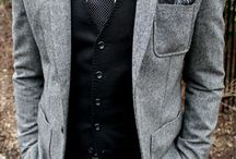Men's fashion for wedding, I think this is a perfectly put together ensemble. Great look for any occasion in my opinion. / Can't go wrong with grey.