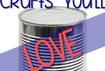 TIN CAN CRAFTS / by Joyce Libutti Mendes