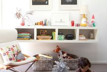 Kids' rooms / Functional and beautiful ideas for integrating kids' stuff into the whole house, no more segregated play-areas, and to plan their bedrooms so they work really well for them. Ideas to make it easy on the eye to have all the kids' stuff around, so all the fun and fab things get used.