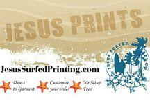Jesus Surfed Custom Printing / Jesus Surfed Apparel Co.  offers custom Digital to Garment printing #JesusPrints #JesusSurfedApparelCo www.JesusSurfedPrinting.com
