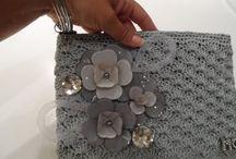 Cluch gris perla paso a paso