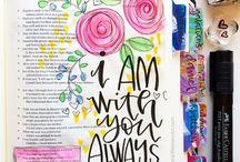 Bible Journaling / Embellishing your bible