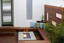 courtyards, small gardens / by Myles Baldwin Design