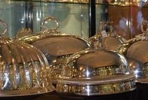 Maison: Argent~ Silver / Beautiful silver tureens, jardinieres, candlesticks etc etc etc / by Art by Wietzie