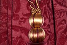 BURGUNDY & gold...