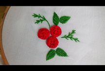 Ручная Вышивка / Розы стежками
