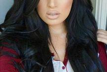 black hair! :)