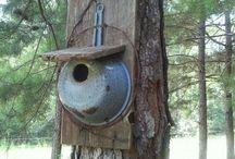 vogelhuisjes/ vogels voeren