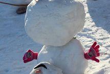 Snögubbar och andra snöfigurer