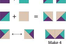 Squares & triangels / Quilt