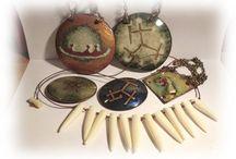 Lasse Talosela jewelry / Finnish vintage enamel jewelry