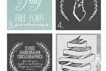 Design | Fonts / Beautiful fonts for your creative and design projects
