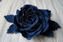 textil virágok, gyümölcsök