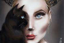 pittura digitale / miei disegni digitali