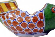 Designer Ashtray / Bring grandeur to the room with this ornately hand painted Ashtray .