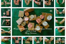 christmas diy / an easy,quick and beatiful way to make a christmas calender for your family and friends!!!!