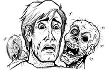 Zumbis / Meus desenhos sobre Zumbis.          My drawings about Zombies.