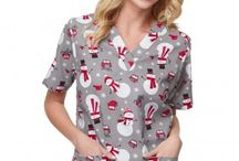 Winter scrubs and holiday scrubs