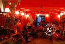 Dancover Christmas décor ideas / Chrismas décor ideas with FleXtents and Dancover sparkling range of LED lights.