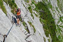 Berge und Klettersteige
