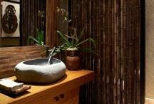 DIY Hawaiian inspired bathroom