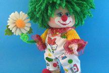 Crochet clowns