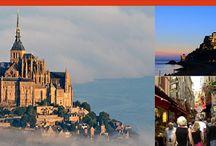 モン・サン=ミシェル(Mont Saint-Michel) / フランス西海岸、サン・マロ湾上に浮かぶ小島