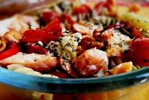 Salads / Salada de Espirais com Salmão Grelhado