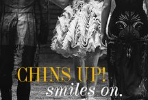 Chins up, smiles on! / #catchingfire